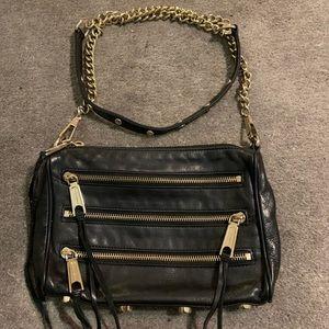 Rebecca Minkoff 'Mini 5 Zip Leather Crossbody Bag'